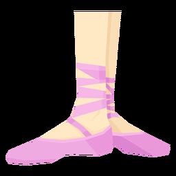 Ballet pointe sapato fita tornozelo pé perna plana