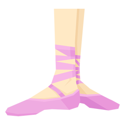 Ballet pointe shoe ribbon ankle foot leg flat