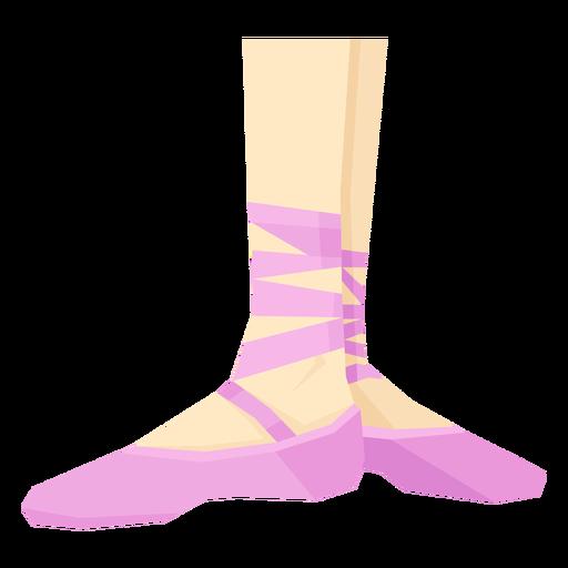 Fita de sapatilha de ponta de balé no tornozelo perna plana Transparent PNG