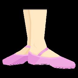 Sapatilha de balé sapatilha fita pé de tornozelo perna plana