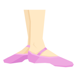 Zapato ballet pointe cinta tobillo pierna pie plano