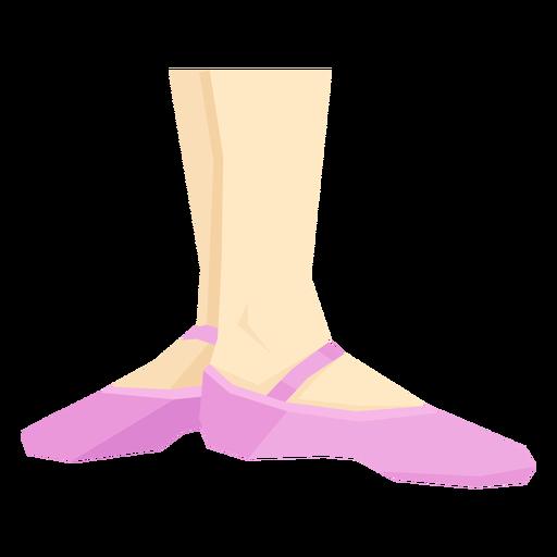 Zapato ballet pointe cinta tobillo pierna pie plano Transparent PNG