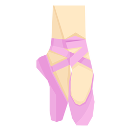 Ballet pointe shoe ribbon foot leg ankle flat