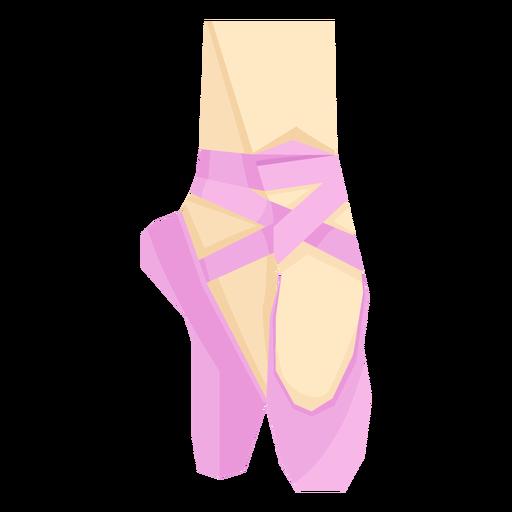 Ballet pointe shoe ribbon foot leg ankle flat Transparent PNG