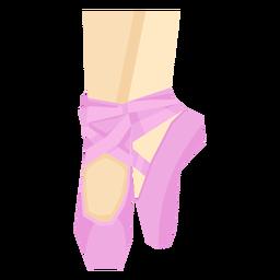 Ballet pointe shoe ribbon leg foot ankle flat
