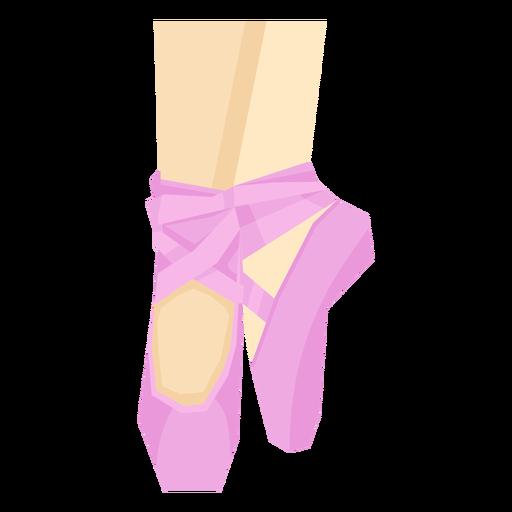 Ballet pointe shoe ribbon leg foot ankle flat Transparent PNG