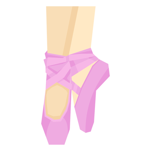 Sapatilha de ponta de balé perna pé de fita e tornozelo plano