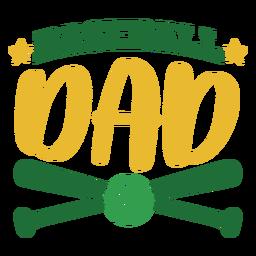 Etiqueta engomada de la insignia de la estrella de la bola del palo del papá del béisbol