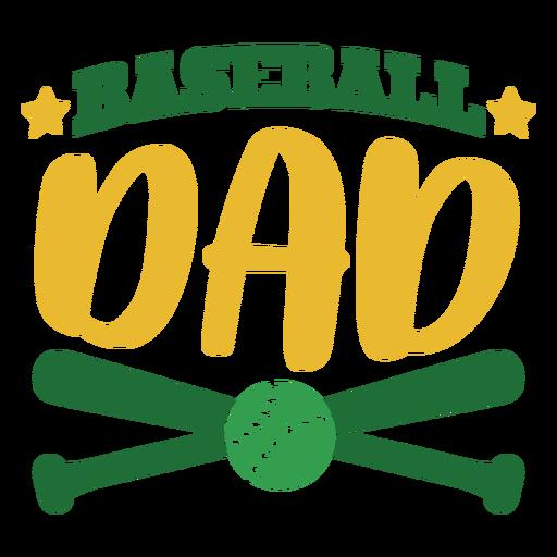 Baseball dad bat ball star badge sticker Transparent PNG