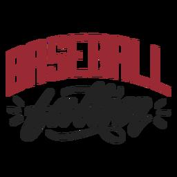 Etiqueta engomada de la insignia del padre del béisbol