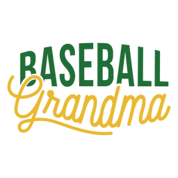 Baseball grandma badge sticker