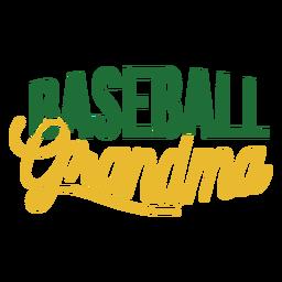Etiqueta engomada de la abuela de béisbol