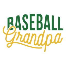 Baseball grandpa badge sticker