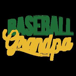 Etiqueta engomada de la insignia del abuelo de béisbol