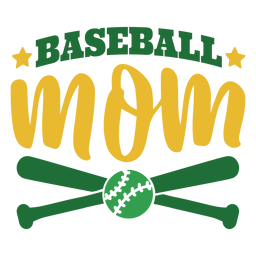 Baseball mom bat ball star badge sticker