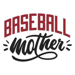 Etiqueta do emblema da mãe do basebol