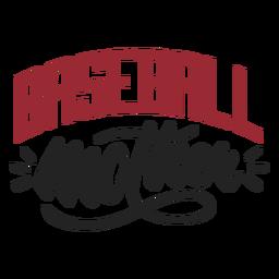 Etiqueta engomada de la madre de béisbol
