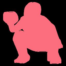 Baseball-Spieler Ballspieler Helm Silhouette