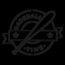 Béisbol tiempo bate estrella insignia accidente cerebrovascular
