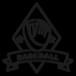 Golpe de distintivo estrela de bola de luva de beisebol