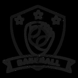Béisbol guante bola estrella rama insignia trazo