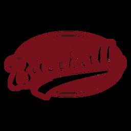 Adesivo de crachá oval de beisebol