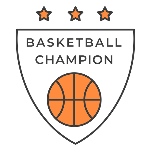Basketball champion ball star color badge sticker Transparent PNG