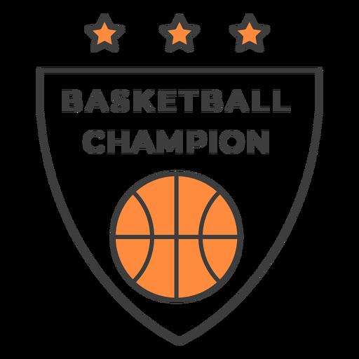Etiqueta do emblema da cor da estrela da bola do campeão do basquetebol Transparent PNG