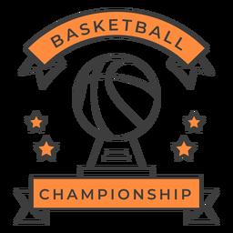 Etiqueta do emblema da cor da estrela da bola do campeonato do basquetebol