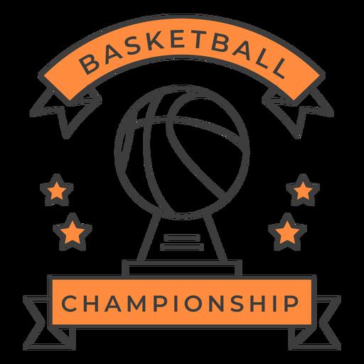 Etiqueta do emblema da cor da estrela da bola do campeonato do basquetebol Transparent PNG