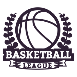 Basketball ligue ball branch badge