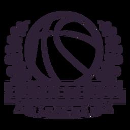 Distintivo de galho bola de basquete ligue