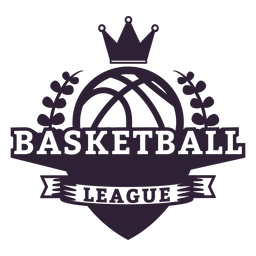 Basketball ligue ball branch crown badge