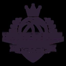 Basketball Ligue Ball Zweig Krone Abzeichen
