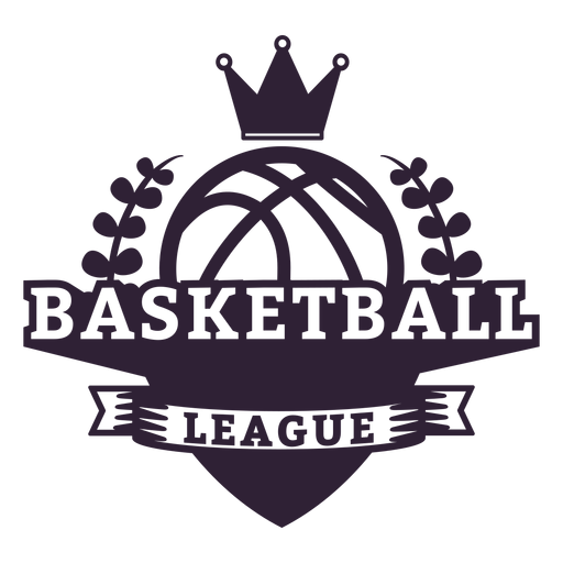 Basketball ligue ball branch crown badge Transparent PNG