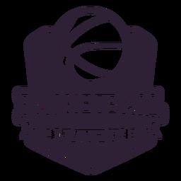 Basketball ligue ball game badge