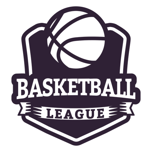 Basketball ligue ball game badge Transparent PNG
