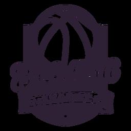 Emblema da estrela da bola do basquetebol ligue
