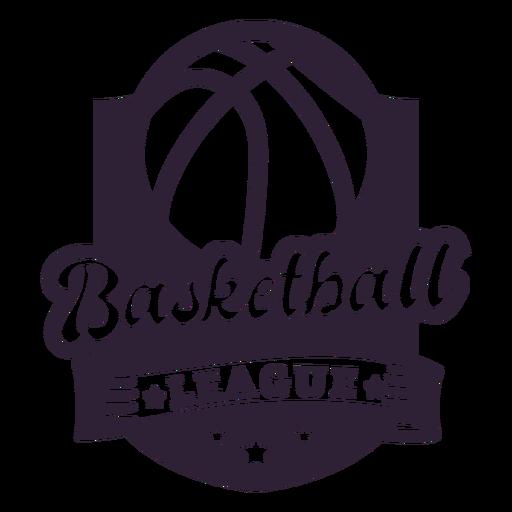 Basketball ligue ball star badge Transparent PNG