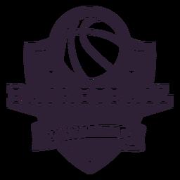 Emblema do jogo da estrela da bola do basquetebol ligue