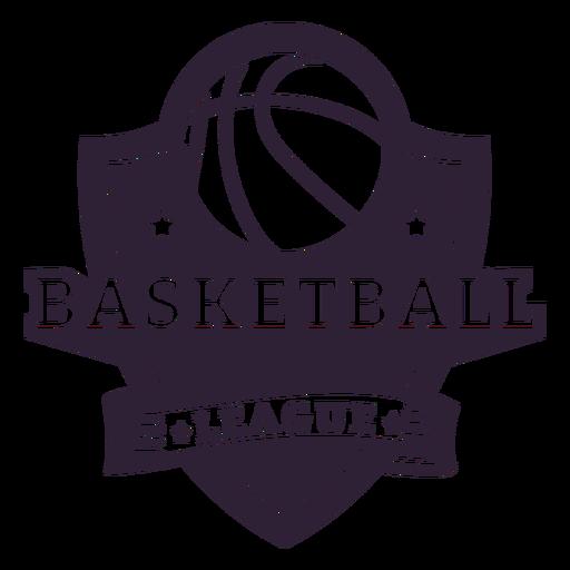Insignia del juego de la pelota de la liga de baloncesto.