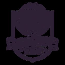 Distintivo de bola estrela de ligue basquete