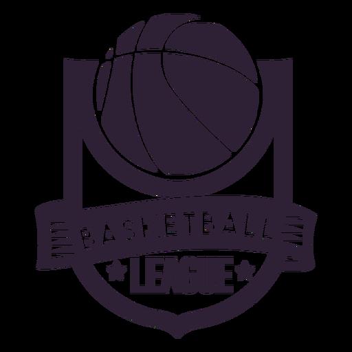 Insignia de pelota estrella de la liga de baloncesto Transparent PNG