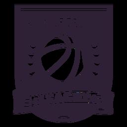 Distintivo de ramo de bola estrela de ligue de basquete