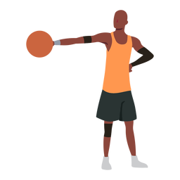 Basketball player ball player shorts accessory flat