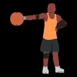 Jugador de baloncesto jugador de pelota pantalones cortos accesorio plano