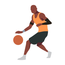 Basketball player ball player shorts accessory t shirt bald flat