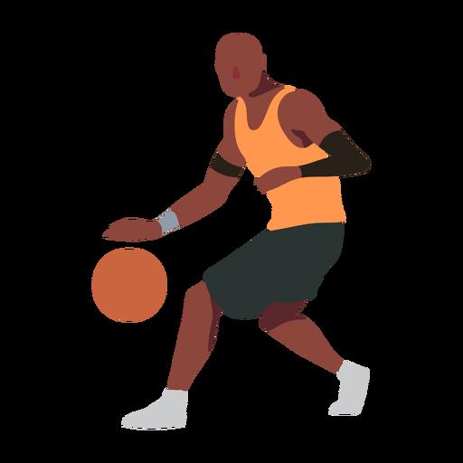 Basketball player ball player shorts accessory t shirt bald flat Transparent PNG