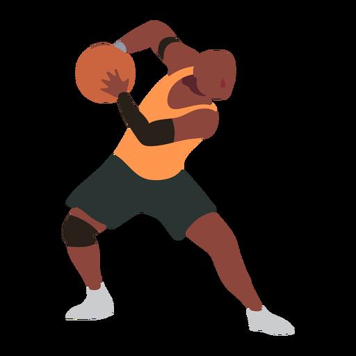 Basketball player ball player shorts accessory t shirt flat Transparent PNG