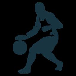 Jogador de basquete bola jogador shorts careca silhueta detalhada